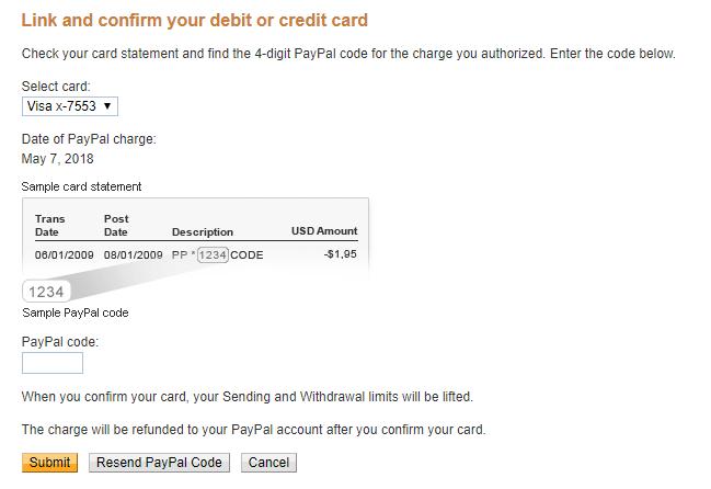 Jenius untuk Verifikasi PayPal