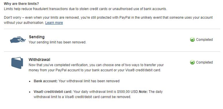 Hapus Limit PayPal